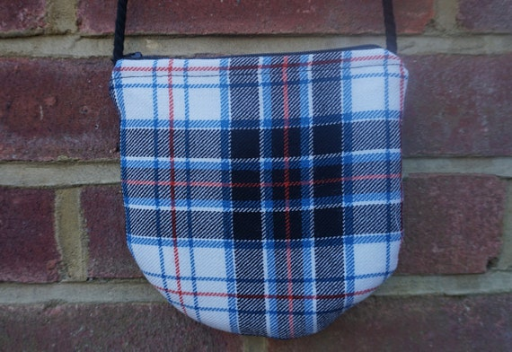 Zero Waste Tartan Cross Body Bag