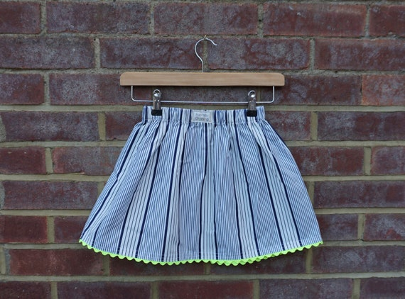 Neon Nautical Skirt Age 5-7yrs