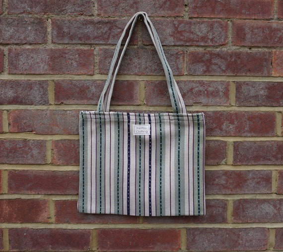 Green And White FairTrade Tote Bag