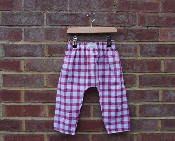 Tamil Nadu Plaid Fairtrade Trousers Age 1-3yrs