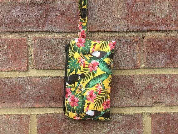 Toucan Lined Zipper Bag