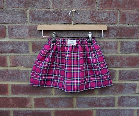 Pink Tartan Skirt Age 1-3yr