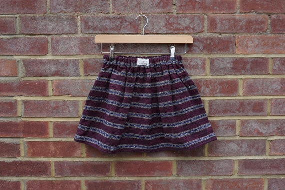 Maya Fair Trade Burgundy Skirt Age 5-7yrs
