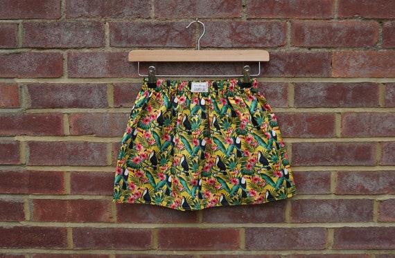 Tropical Toucan Summer Skirt