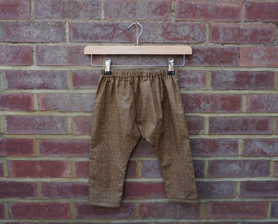 Autumn Brown Harem Style Trousers Age 1-3yrs