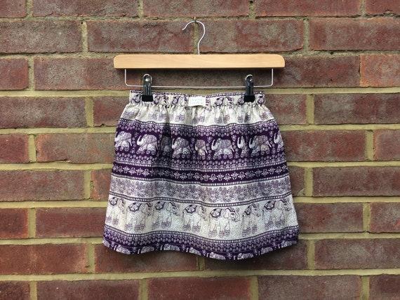 Purple Elephant Skirt Age 6yrs