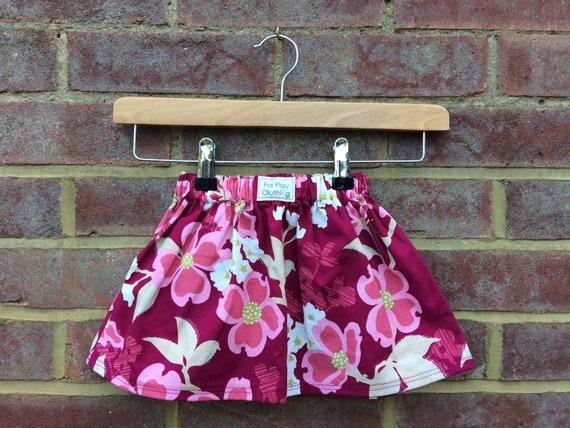 Pink Flower Skirt Age 12 - 24m