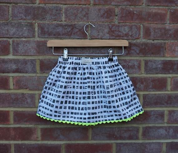Neon Monochrome Skirt Age 5-6 yrs