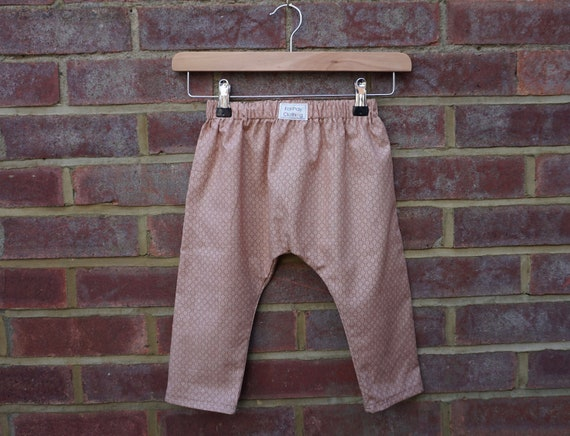 Autumn Beige Harem Style Trousers Age 1-3yrs