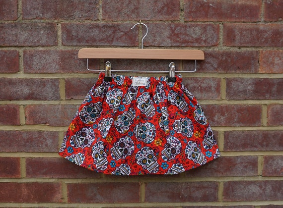 Day of the Dead Red Skirt Age 3-5yrs