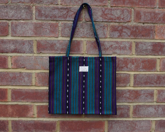 Purple And Turquoise FairTrade Tote Bag