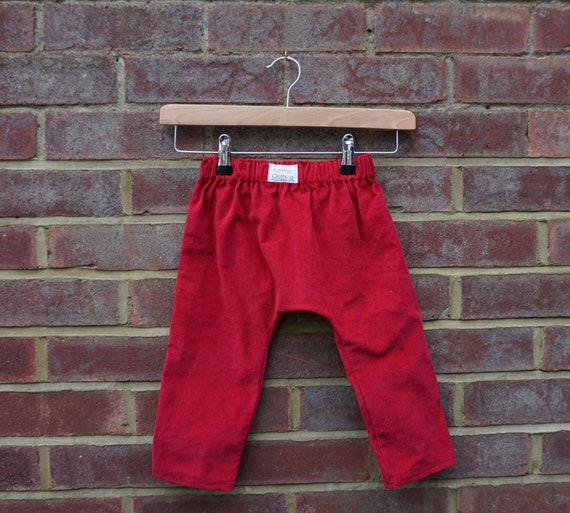 Red Corduroy Trousers Age 1-3yrs