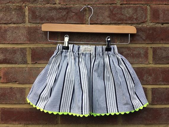 Neon Nautical Skirt Age 2-3 yrs