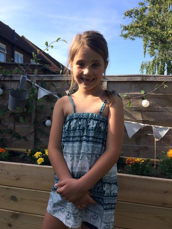 Turquoise Namaste Dress Age 2-4 years