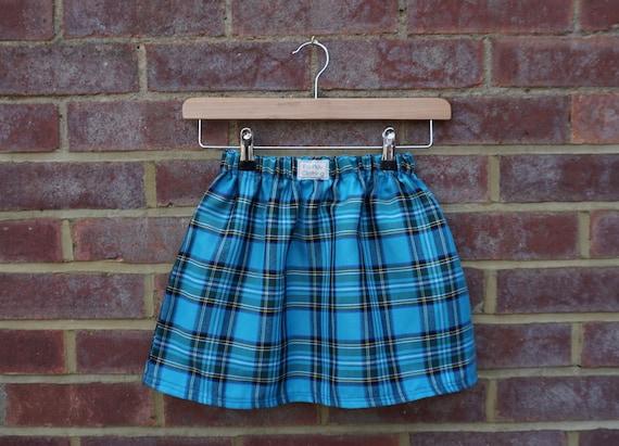 Play Again Turquoise Tartan Skirt