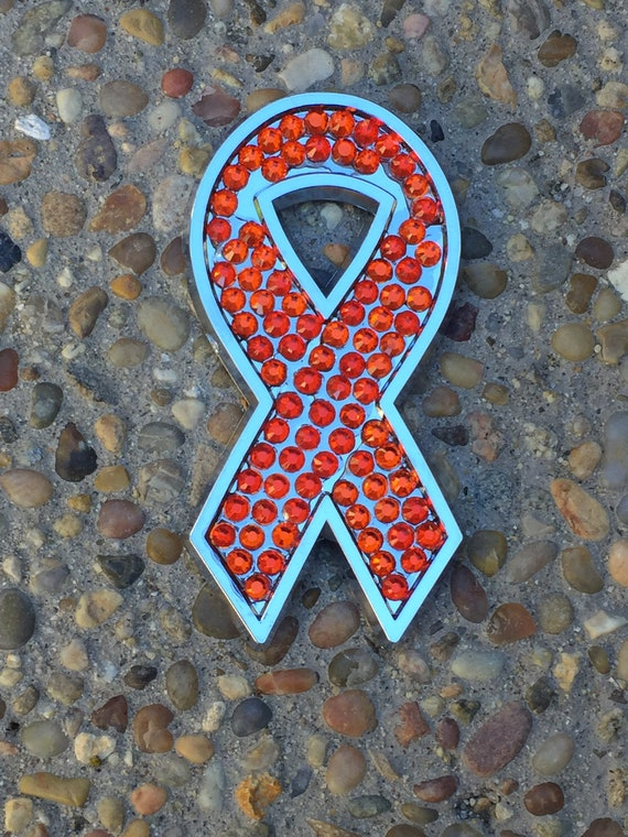 Emerald Green Ribbon Chrome Emblem for Liver Cancer Awareness