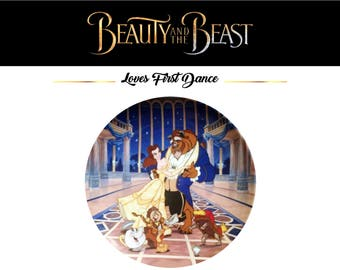Vintage Knowles Beauty and the Beast Series Collector Plate - Loves First Dance