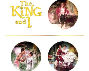 The King and I collector plate series - by Knowles - artwork by William T. Chambers - Free Shipping!!