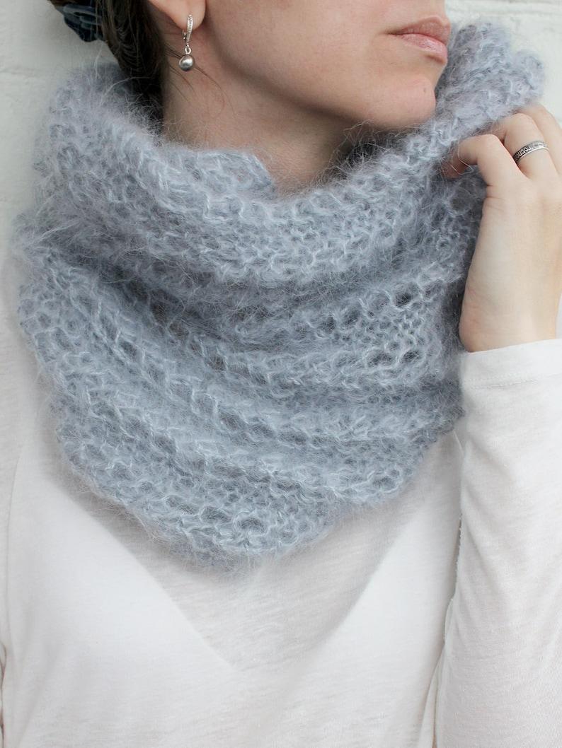 4a47861ffc128 Boucle écharpe en tricot tricot écharpe mohair col infinity | Etsy