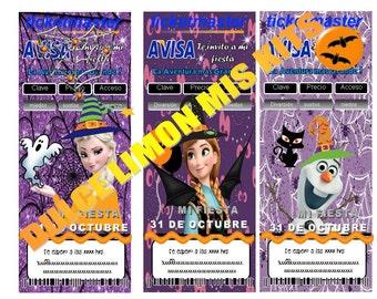 Halloween  treats frozen ticketmaster !!!
