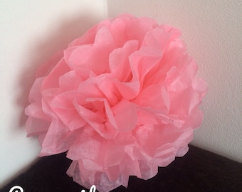 Pack de 2 pompones en papel de seda rosa