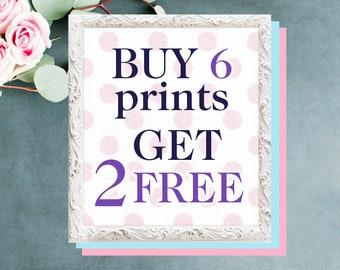 Buy 6 prints get 2 prints FREE, Science art Poster set, 5 x 7 in, 8 x 10 in, 8.5 x 11 in, 11 x 14 in, 12 x 16 in