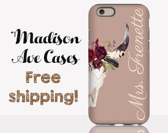 Phone Case Wedding Skull Flowers Customize Engaged Anniversary Gift Bride  Mrs. Fiancée Watercolor Floral Galaxy Pixel 2 S9 iPhone X 7 8 Plus 8d744b213c39
