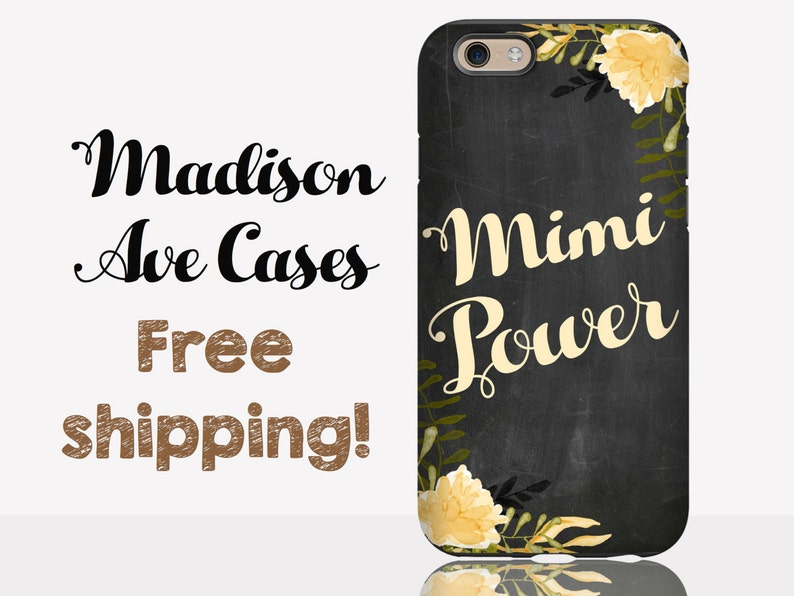 d8bd73251c6c Phone Case Mimi Power Grandma Nana Nonnie Gigi Flower Gma Gift Grandparents  Floral Chalkboard Samsung Galaxy Edge S8 iPhone 5 6 7 Plus Tough