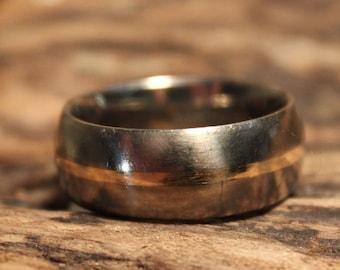 Mens Rings Wedding Band Titanium 14K Gold Ring Size 8.5 Weight 4.1 Grams Titanium Gold Ring Promise Ring Mens Bands Unisex Wedding Band Ring