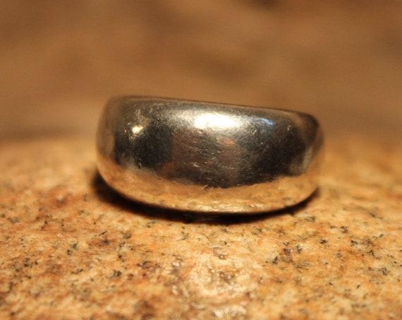 Mens Ring Mexico Large Silver Wedding Band Ring Sterling Silver Ring 16.2 Grams Size 7.5 Sterling Ring Mexico Silver Vintage Mexico Silver
