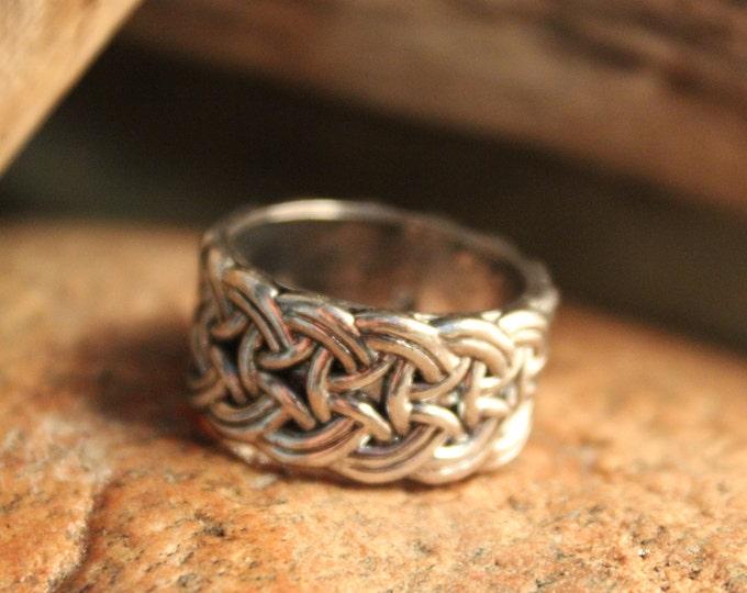 Mens Viking Ring Silver Viking Band Ring Norse Ring Celtic Rings 10 Grams Size 8 Viking Band Ring Mens Silver Rings Mens Vikings Rings