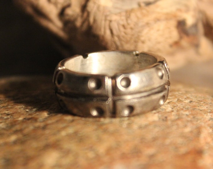Mens Viking Ring Sterling Viking Band Ring Norse Rings Celtic Rings 9.3 Grams Size 9 Sterling Band Ring MensSilver Rings Mens Vikings Rings