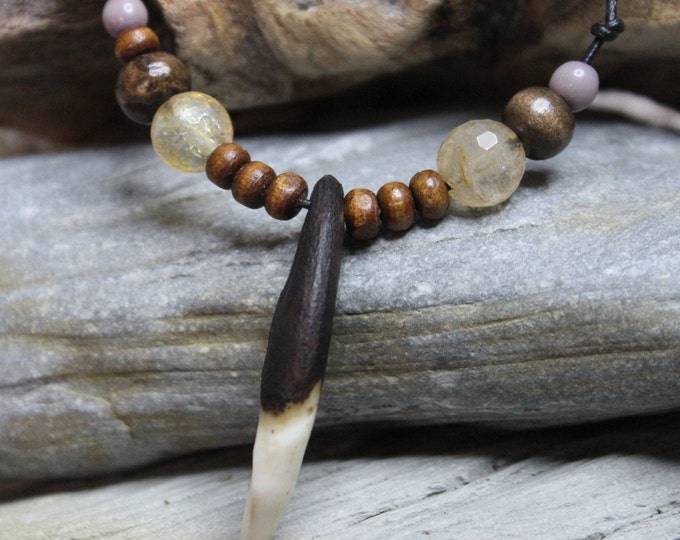 Large Wolf Tooth Necklace Wolf Teeth Necklace Wolf Necklace Wolf Tooth Necklace Adjustable African Native American Large Wolf Tooth Necklace