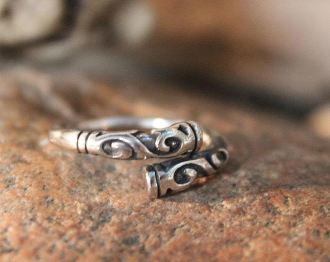 Norse Viking Silver Ring Odin's Valknut Rings Odin Viking Sterling Silver Ring Size 8 Adjustable 4 Grams Mens Viking Ring Friendship Rings