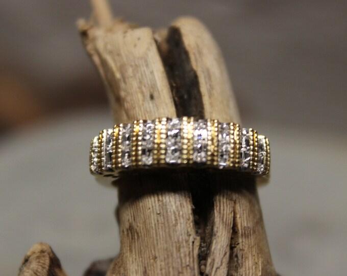 Vintage 10k Gold Diamond Ring 3.1 Grams Size 7 I Love You Diamond Ring Wedding Band Vintage Diamond Gold Bands  Vintage Womans Diamond Rings