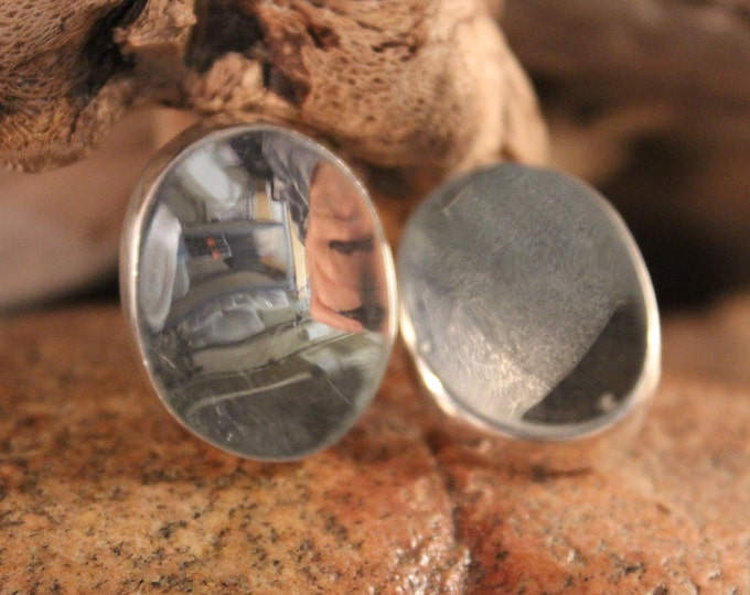 Large Vintage Contemporary Sterling Silver Earrings  Chunky Sterling Silver Earrings 25.5 Gram Large Silver Earrings Vintage Silver Earrings