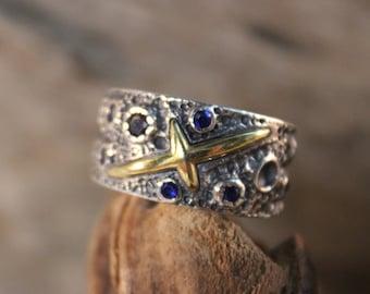 Norse Viking Silver Ring Odin's Valknut Rings Odin Viking Sterling Silver Ring Size 9 Adjustable 9.9 Grams Mens Viking Ring Friendship Rings