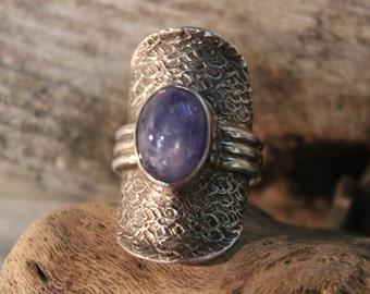 Large Vintage Amethyst Silver Ring Sterling Ring Size 8 Weight 12.8 Grams Ladies Vintage Rings Ladies Vintage Jewelry Silver Amethyst Ring