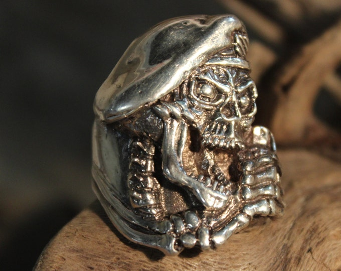 1970's Mens Vietnam Soldier Ring 21.6 Grams Size 11.5  5th Special Forces Group Vintage Sterling Silver Man Vintage Ring Mens Silver Ring