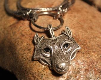 "Odin Thor's Hammer Mjolnir Wolf Pendant  87 Grams 24"" Viking Necklaces Pendant Jewelry Scandinavian Viking Wolf Hammer Pendant  Mjolnir"