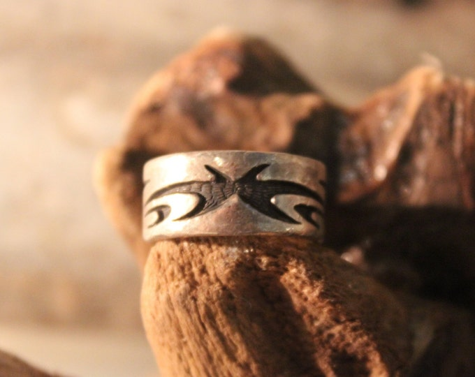 Mens Viking Ring Sterling Viking Band Ring Norse Rings Celtic Rings 7.4 Grams Size 5 Sterling Band Ring MensSilver Rings Mens Vikings Rings