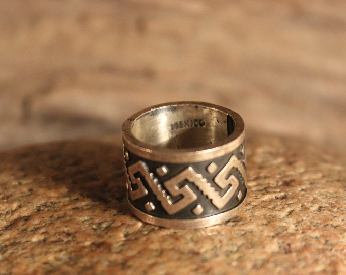Mens Viking Ring Sterling Viking Band Ring Norse Ring Celtic Ring 10.2 Grams Size 4.5 Sterling Band Ring Man Silver Rings Mens Vikings Rings