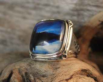 Vintage Mens Sterling Silver Barse Ring Sterling Statement Ring Barse Vintage Rings Size 8 Heavy 19.3 Grams Mens Large Vintage Rings