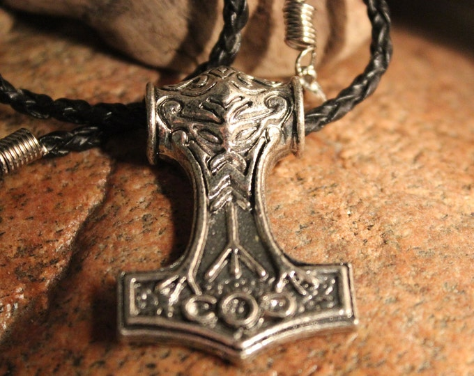 "Odin Thor's Hammer Mjolnir Pendant 22.7 Grams 18"" Viking Necklaces Pendant Jewelry Scandinavian Viking Thors Hammer Pendant Hammer Mjolnir"