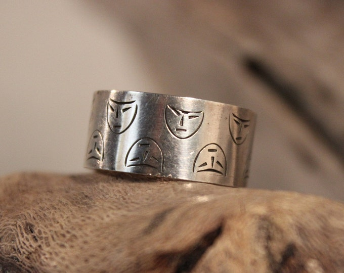 Sterling Silver Friendship Ring Wedding Band 4 Grams Size 9.5 Vintage Sterling Friendship Band Mens Silver Vintage Ring Mens Silver Rings