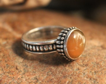 Vintage Anne Klein Sterling Ring Sterling Silver  Cabochon Ring  8.8 Grams 6 Size Womans Rings Ladies Silver Jewelry Vintage Silver Rings