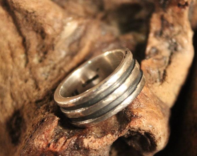 Mens Viking Ring Sterling Viking Band Ring Norse Ring Celtic Ring 8.4 Grams Size 7.5 Sterling Band Ring Mens Silver Rings Mens Vikings Rings
