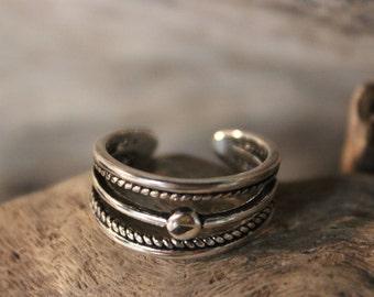 Norse Viking Silver Ring Odin's Valknut Rings Odin Viking Sterling Silver Ring Size 7 Adjustable 2.8 Grams Mens Viking Ring Friendship Rings