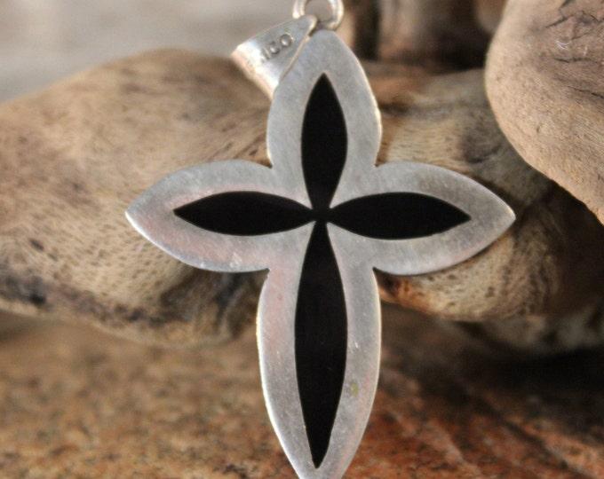 Silver Cross Pendant Vintage Mexico Sterling Heavy 11.5 grams Silver 925 Crucifix  Necklace Pendant Silver Pendant Vintage Silver Pendant