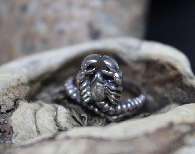 Vintage Sterling Silver Scorpion Ring 4 Grams Size 5 Scorpion Ring Sterling Ring Vintage Scorpion Silver Ring  Vintage Silver Rings